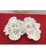 RARE VTG Porcelain CT Germany Carl Tielsch Floral Serving Dish 2 Side w ... - $50.00