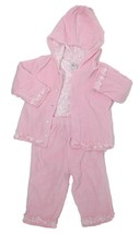Kissy Kissy Baby Girls Pink Size 12-18 Months 3pc Top Pant Jacket Outfit... - $45.82