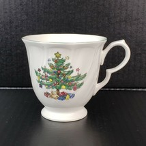 Vintage Nikko Happy Holidays Footed Tea Cup Blue Back Stamp Made in Japan - $7.99