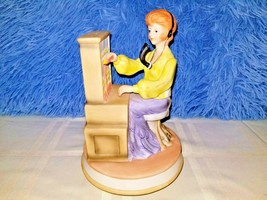"Switchboard Operator Ceramic Carousel Music Box -""Try to Remember""   7.5... - $49.49"