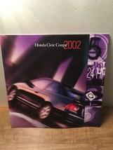 2002 Honda Civic Coupe 24-page Original Car Sales Brochure - $9.89
