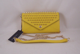 Rebecca Minkoff Wallet on a Chain with Studs Marigold with Gold Hardware NEW - $186.22