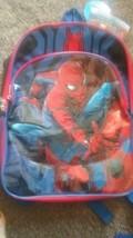 New SPIDER-MAN Kids Bookbag Backpack Homecoming Superhero Red Blue School Marvel - $12.85