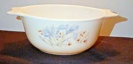 Pyrex England Blue Iris Vintage Casserole Dish - $14.84