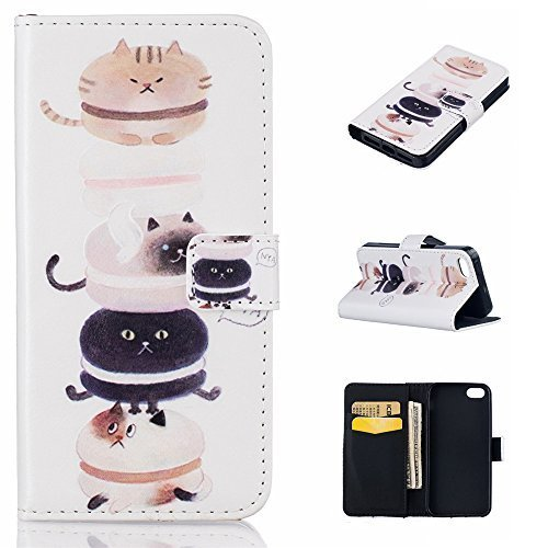 iPhone 5S Case,iPhone SE Case,XYX [Cat] - [Relief Leather][Kickstand][Wallet][Ca for sale  USA