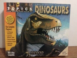 Topics~World of Dinosaurs Deluxe Boxed Set~5 CD-ROM Programs~PC Software... - $12.86
