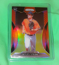 MLB MYLES STRAW BOSS AND RED SOX 2019 PANINI PRIZM REFRACTOR RC #96 MINT - $1.35