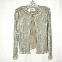 Davids Bridal Womens Formal Dress Jacket Size 10 Metallic Gold Silver  - $26.87