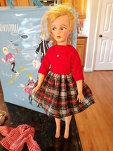 Vintage Tammy Mom Mother Doll With Blue Case Ideal Toy School Daze Cloth... - $141.26