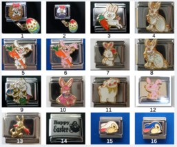 Easter basket Bunny Lamb  Italian charm Classic 9mm size Choose from 16 designs! - $2.45+