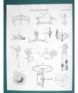 CLOCK & Watch Work Escapements Graham Mudge's  - c. 1833 Fine Quality Print - $13.77