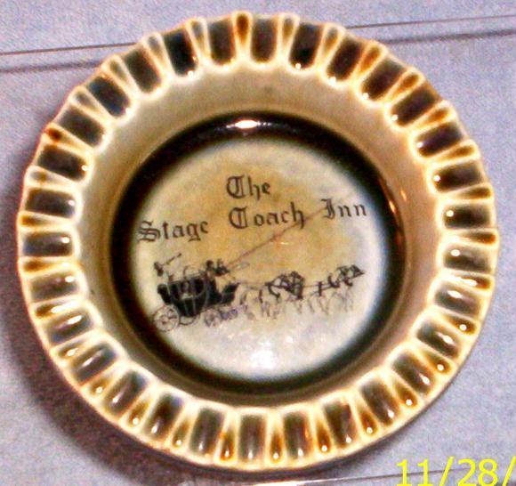 WADE PORCELAIN-- STAGE COACH INN ASHTRAY - $9.95