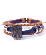 Attack on Titan Shingeki no kyojin Bracelets Cosplay Bracelet Freedom Le... - $12.23