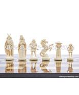 """Viking plastic chess pieces / chessmen - white / black - 3,75"""" / 95 mm -... - $20.80"""