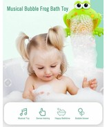 Baby Bath Water Toy Bubble Maker Frog&Crab Soap Machine With Music Kids ... - $17.81+