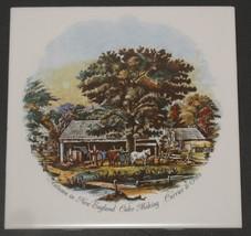 """Vtg Autumn New England Currier & Ives 6"""" Porcelain Accent Dal-Tile Estat... - $8.91"""