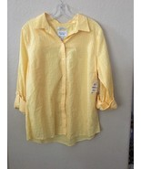 Charter Club Soft Daffodil Relaxed Fit Button Down Shirt 12 - $19.34
