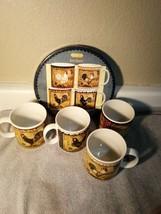 4)  SAKURA  RETRO ROOSTER COFFEE MUGS  IN BOX   -FREE SHIP--NEW - $40.50