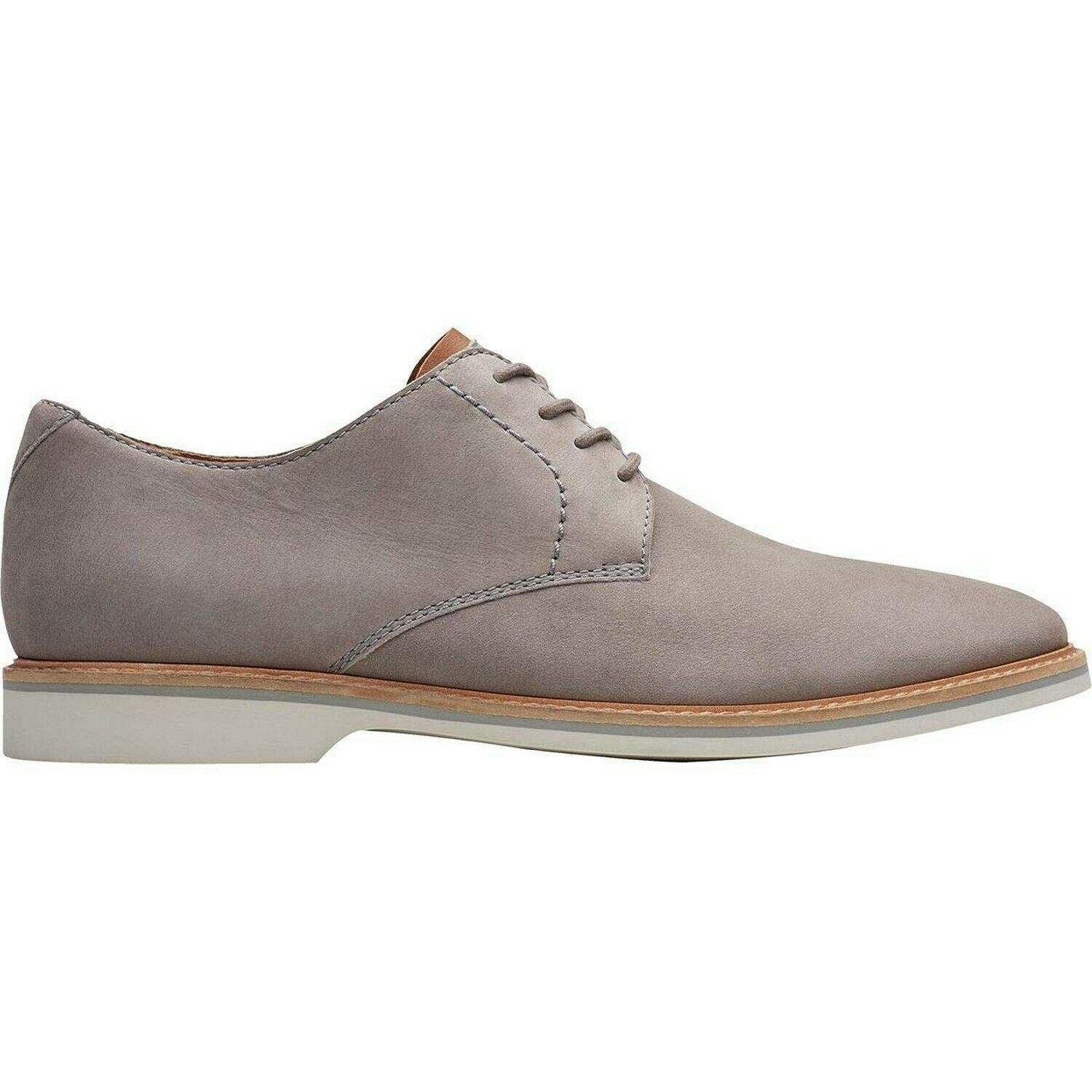 CLARKS Artisan Men's Atticus Lace Dress Shoes Oxford, Grey Nubuck, Size 9.5 D US