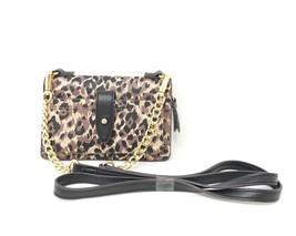 Emma & Sophia A260002 Leopard Print Genuine Leather Crossbody Phone Case... - $69.00