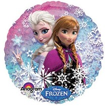 "Disney Frozen Balloon Party Elsa Anna 18"" One (1) Double Sided Mylar - $5.69"