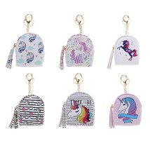 Coin Purse Mini Backpack Bag Key Card Earphones Holder Case Keychain Charms - $9.50