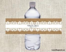 Wedding Bridal Shower RUSTIC LACE Party Favor Water Bottle Labels Person... - £3.06 GBP+