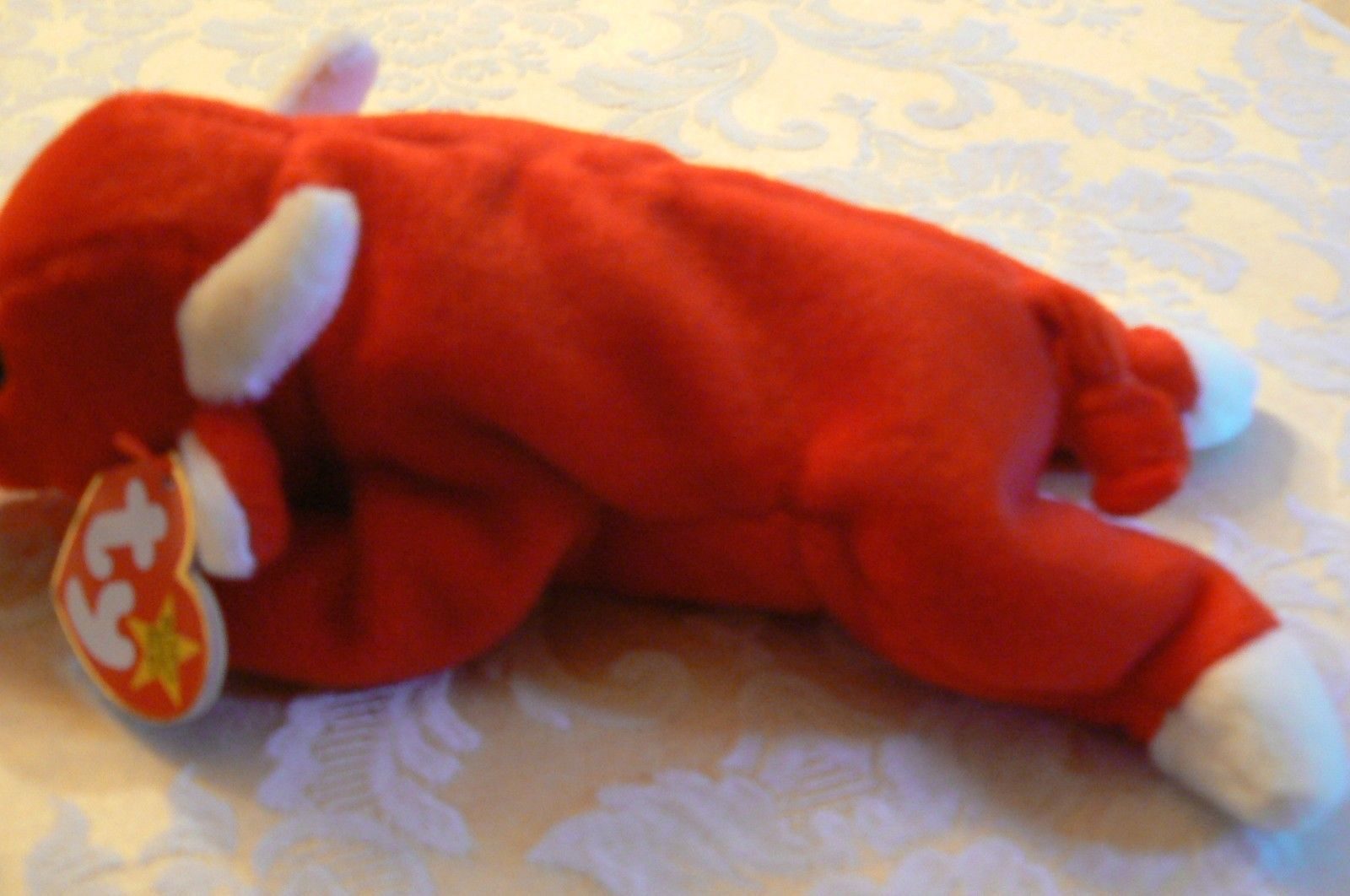 "Vintage Ty Beanie Babies Snort "" The Bull "" Hang Tag/Tush Tag 1995 image 3"