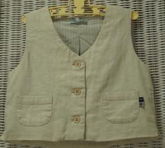 VANILLA PARK Linen-Cotton Waistcoat 2-3 Yrs. Lined Vest Wedding Party Un... - $15.50