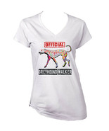 Greyhound - official walker c - NEW WHITE COTTON LADY TSHIRT - $19.59