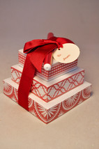 Hallmark: Note Tower With Pen - Hallmark Stationary - Red and White w/ Tag - $12.83