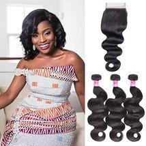 Body Wave Weave Brazilian Virgin Hair Bundles with Closure Unprocessed Brazilian image 2