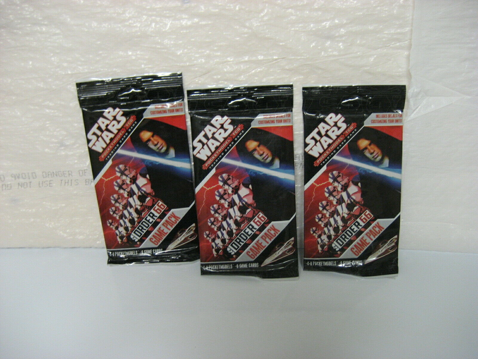 Primary image for STAR WARS ORDER 66 pocketmodel tcg game packs set of 3, new/sealed