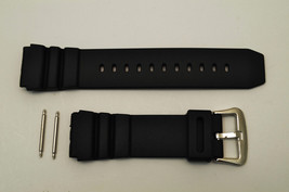 22mm Rubber Watch Band BLACK Fits CASIO AMW320D AD520 MD705 with 2 pins - $11.95