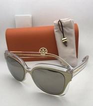 Nuevo Tory Burch Gafas de Sol Ty 9046 16025A Crystal-Gold Marco W/ Oro Efecto