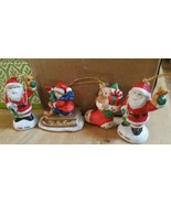 Christmas Ornament Boy on Sleigh Figurine + 3 Free Ornaments Pre-Owned N... - $12.16