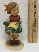 Hummel Goebel Figurine Bashful #377 Shy Girl Earthenware Vintage Germany... - $24.74