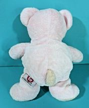 "Ty Pluffies Pinks Teddy Bear 9"" Plush Pink Peach Stuffed Animal Baby Lovey 2002 image 4"