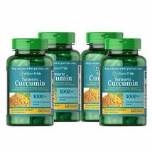 4 Pack - Puritan's Pride Turmeric Curcumin with Bioperine 1,000 mg - 240... - $64.15