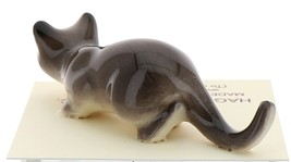 Hagen-Renaker Miniature Ceramic Cat Figurine Gray Cat Stalking image 3