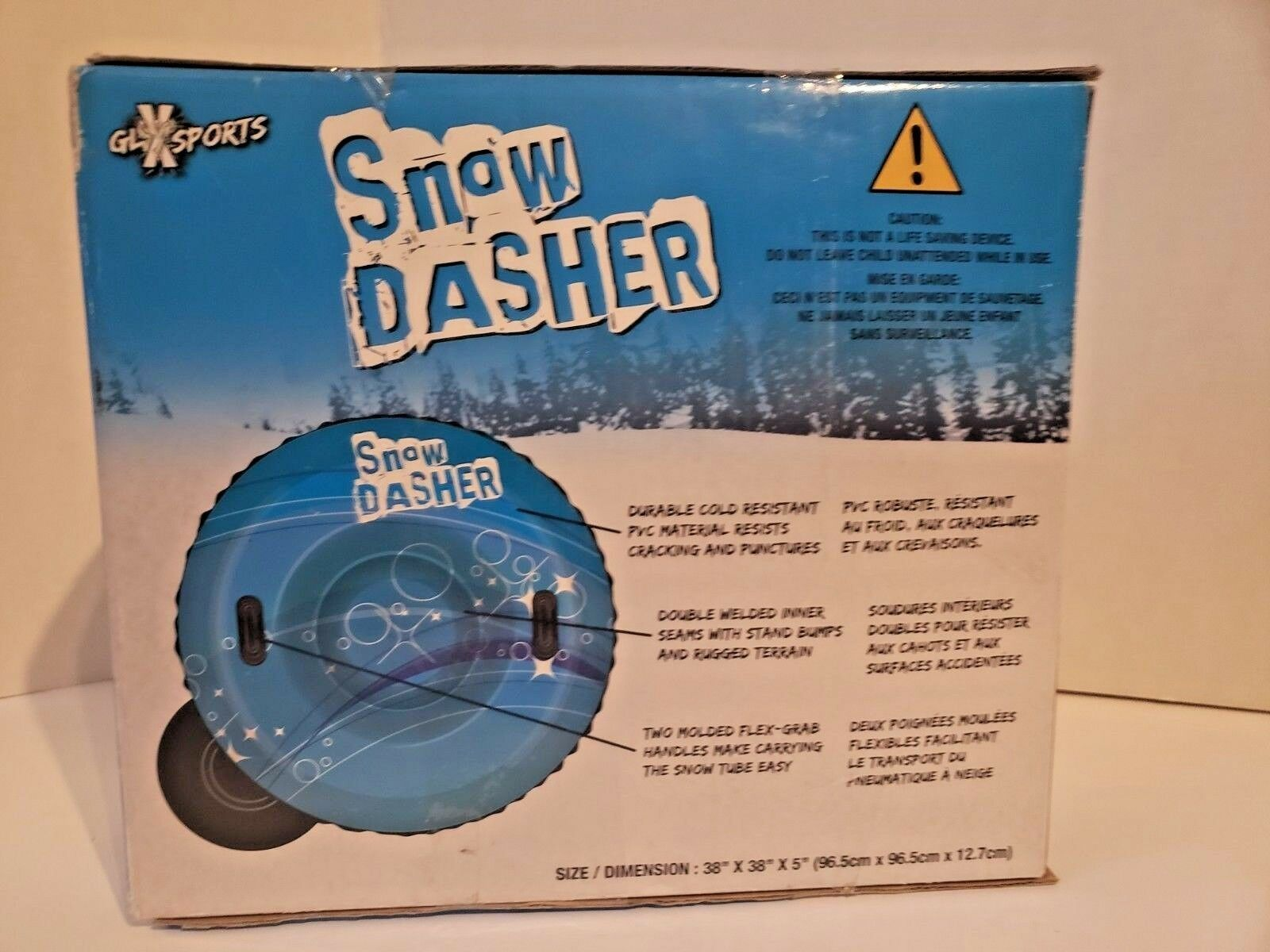 """GLX Sports Snow Dasher...Large 1 Person 38"""" Inflatable Snow tube.... image 3"""