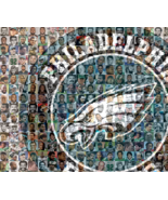 Philadelphia Eagles Photo Mosaic Print designed using over 100 of the gr... - $40.00+