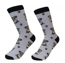 Schnauzer Uncropped Socks Unisex Dog Cotton/Poly One size fits most - $11.99