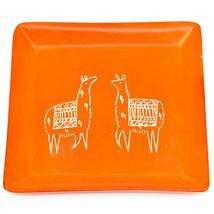 Vaneal Group Hand Carved Kisii Soapstone Llama Square Trinket Dish Made Kenya image 1