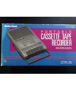 Radio Shack Portable Cassette Recorder CTR-73 With Microphone And Phone ... - $59.40