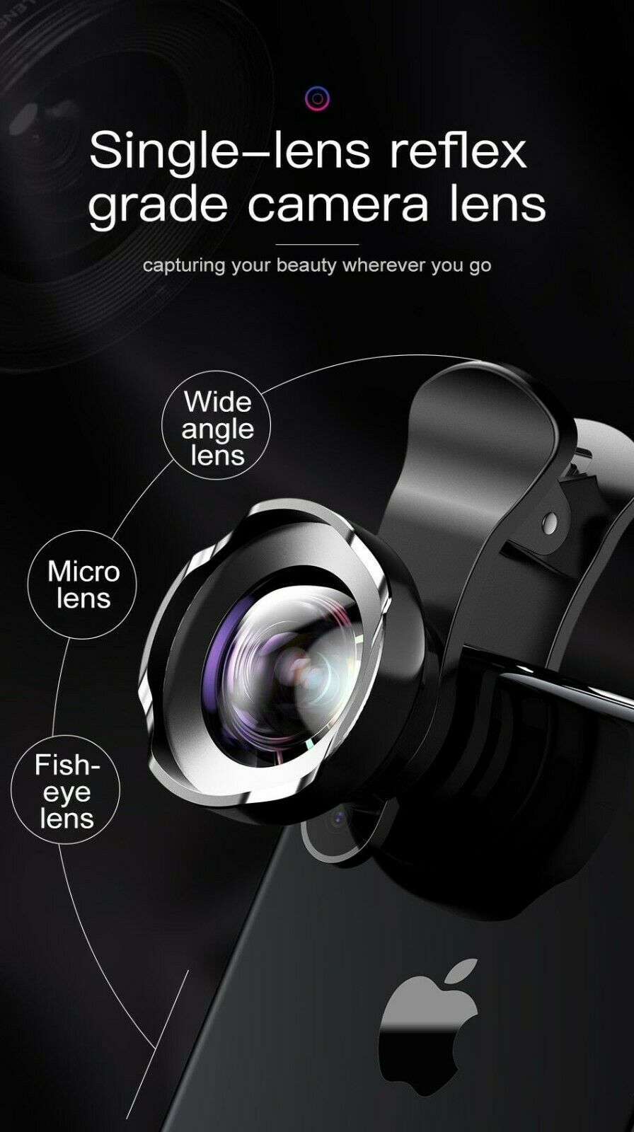 Phone Lens iPhone Xs Max Xr X 8 Samsung S9 Huawei Macro Camera 15x 120°HD Wide