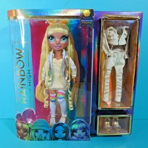 Rainbow High Sunny Madison Yellow Hair Fashion Doll 2 Outfits 2 Pairs Shoes New - $29.95