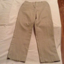 Size 14 George pants khaki flat front uniform pants girls - $6.49