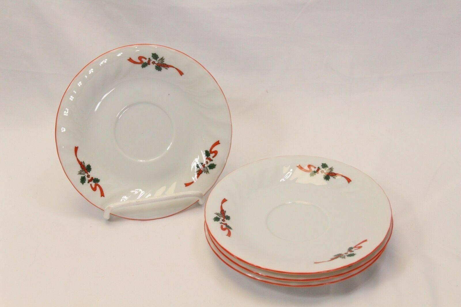 Kopin Xmas Pleasure Dinner Plates Scalloped Rim Lot of 16 image 8
