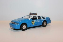 """DIECAST POLICE CAR-  FRICTION PULL BACK- 1/43RD SCALE - 4 1/2""""- NEW- W55 - $5.83"""